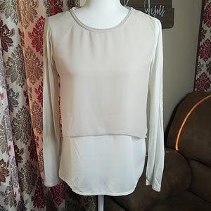 Elie Tahari for Design Nation blouse cream